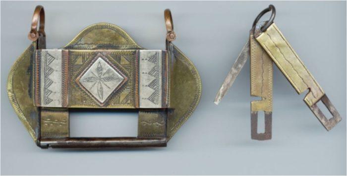 Kamelsackschloss mit 3 Schlüsseln